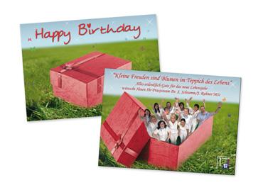 Geburtstagskarte Zahnarztpraxis