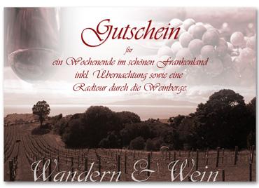 gutschein wandern & Wein
